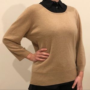 Cashmere sweater 3/4 sleeve